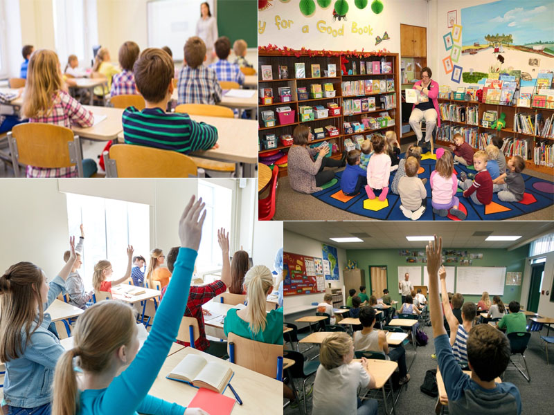 Various Types of Education from Preschool Through High School